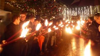 Weihnachtsfunkeln in Rheinfelden