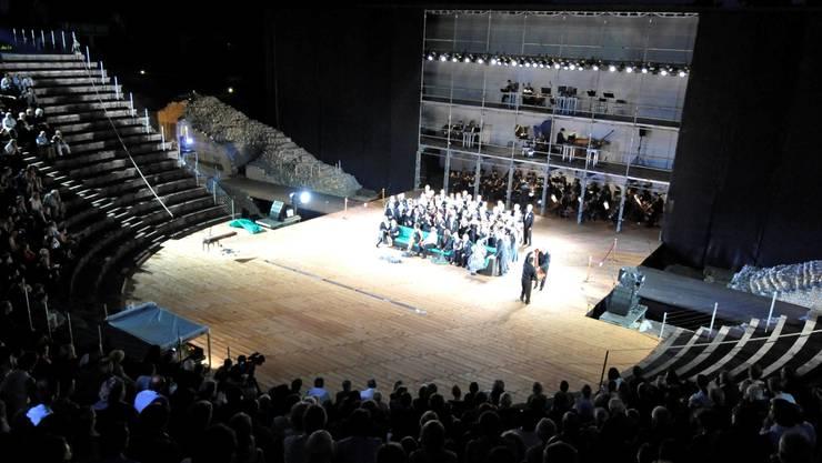 Premiere des Alexanderfest  von Georg Friedrich Haendelin Augusta Raurica. Chorszene.