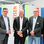 Urs Obrist, Erwin Schwarb, Stefan à Porta und Marc Jäger (v. l.) möchten ihre Banken in eine gemeinsame Zukunft führen.