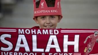 Nicht nur dieser kleine Salah-Fan hofft auf eine baldige Genesung des ägyptischen Starstürmers