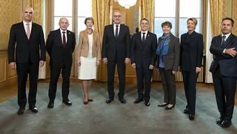 Mit Amherd und Keller-Sutter: Der Bundesrat in seiner neuen Zusammensetzung.