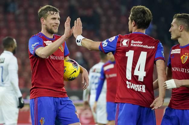Nach seinen drei Treffern im Letzigrund nahm Fabian Frei den Ball mit nach Hause.
