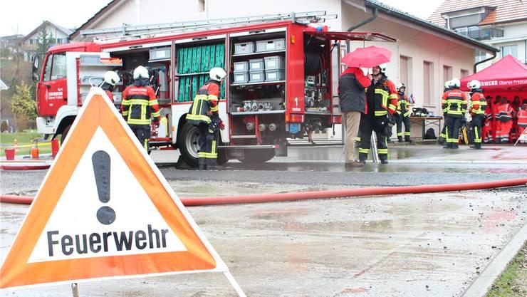 Die Feuerwehr hatte die Angelegenheit rasch unter Kontrolle (Symbolbild.)