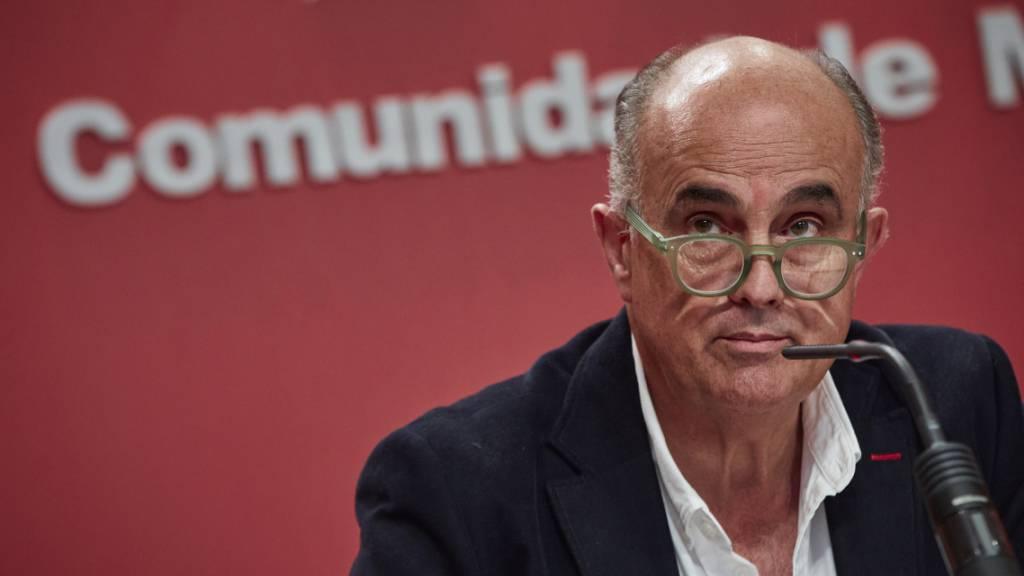 Antonio Zapatero, stellvertretender regionaler Gesundheitsminister von Madrid. Foto: Europa Press/J. HellÌn. Pool/EUROPA PRESS/dpa