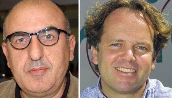Liegen sich in den Haaren: Unia Branchenleiter Transport Roland Schiesser (links) und Hans-Peter Dreier, CEO Dreier Transporte.
