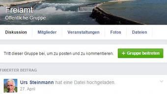 Urs Steinmann administriert die Facebookgruppe «Freiamt»