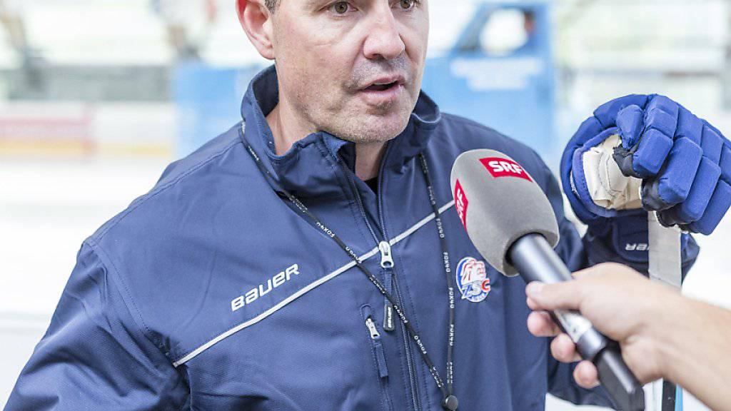 ZSC-Coach Serge Aubin entgeht der Cupblamage gegen Bülach und damit den darauf folgenden kritischen Journalistenfragen nur knapp
