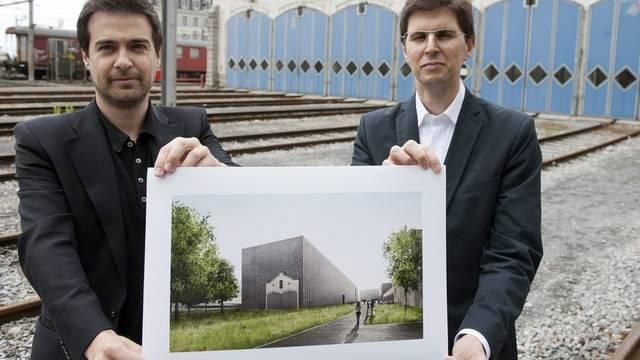 Alberto Veiga (r) und Fabrizio Barozzi bei der Präsentation des Projekts (Archiv)