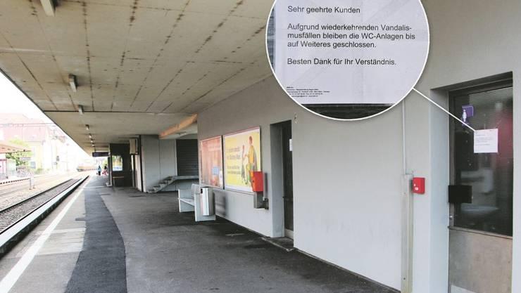 Der Bahnhof Schönenwerd soll 2020 saniert werden (nach dem Vier-Spur-Ausbau). Gegenwärtig verwahrlost er. Vandalen sind am Werk.