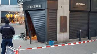Das Juweliergeschäft Bucherer in St.Gallen wurde in der Nacht auf Montag ausgeraubt.