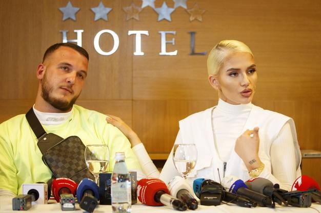 Halten zusammen: Loredana und Ehemann Mozzik.