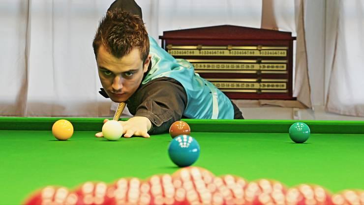 Alexander Ursenbacher aus Rheinfelden ist der erste Snooker-Profi der Schweiz – und begeisterte nun die Experten mit einem starken Turnier.