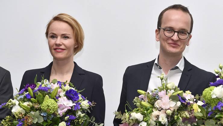 Die neuen Regierungsräte: Natalie Rickli (SVP) und Martin Neukom (Grüne).