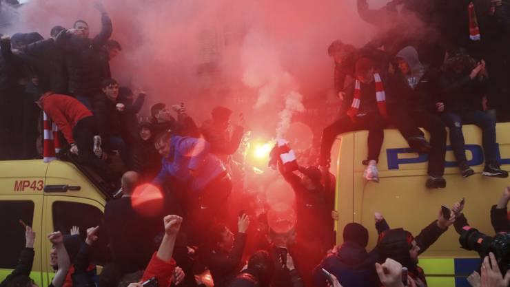 Einige Anhänger von Liverpool und der Roma sorgten für Probleme in der englischen Stadt