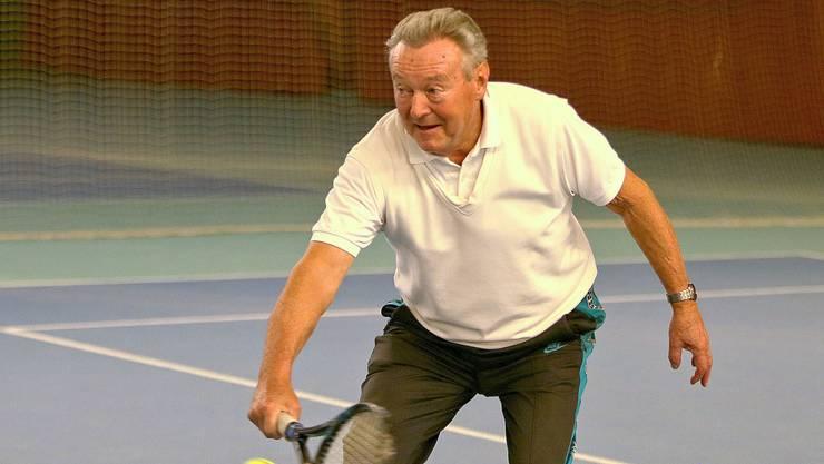 Gründungsmitglied Bruno Baumann ist auch mit 80 noch in einer beneidenswerten Form.