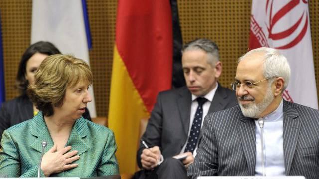 EU-Aussenbeauftragte Ashton und Irans Aussenminister Sarif in Wien