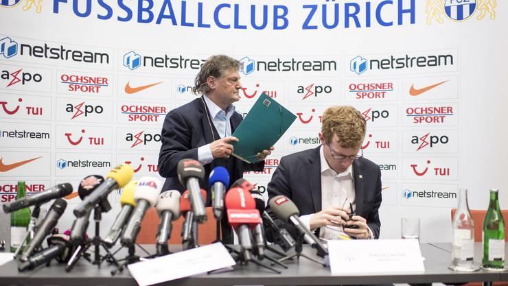 Nach dem Abstiegsdebakel des FC Zürich stellte sich Ancillo Canepa den Fragen der Medienschaffenden.