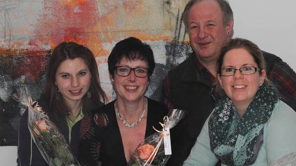 Unser Bild: Präsidentin Monica Rubin (2. von links) mit den neuen Vorstandsmitgliedern (von links) Anna-Elise Beer, Bruno Bonelli und Denise Wipf.