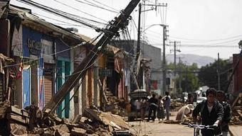 Das Erdbeben zerstörte ganze Strassenzüge
