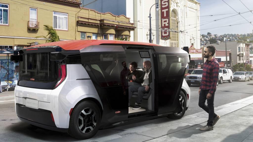 GM-Firma Cruise stellt Robotaxi-Fahrzeug vor