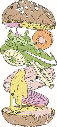 Schicht um Schicht zum Veggie-Burger: