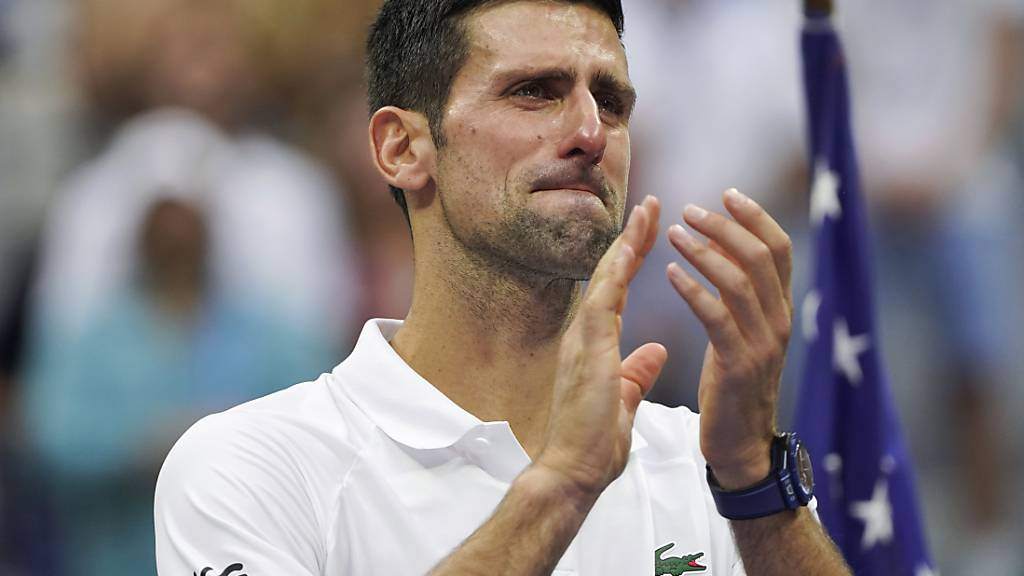 Tennis-Star Novak Djokovic verliert das Finale der US Open gegen Daniil Medwedew. Foto: John Minchillo/AP/dpa