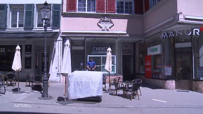 Überfall auf Schmuck- und Uhrengeschäft Christ in Solothurn