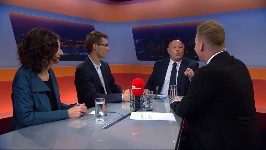 Alles nur Klima-Hysterie? Die Sendun «TalkTäglich» mit SP-Präsidentin Gabriela Suter, FDP-Präsident Lukas Pfisterer und SVP-Natoinalrat Ulrich Giezendanner.