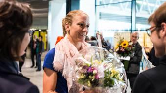 Herzlicher Empfang für Triathletin Daniela Ryf