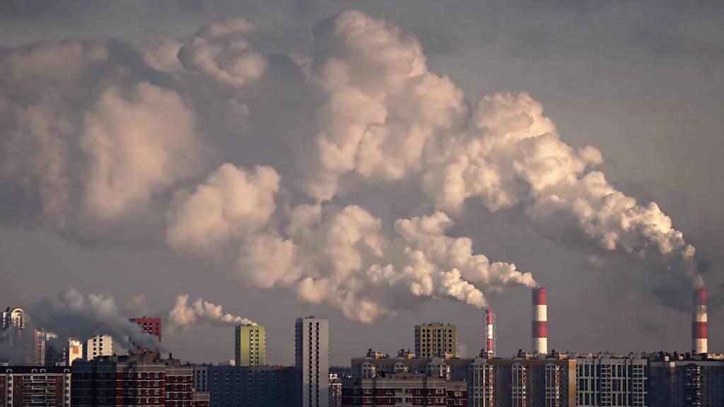 Nach einem Rekord-Ausstoss an Treibhausgasen im vergangenen Jahr appelliert die Uno vor allem an die hoch entwickelten Staaten, ihre Anstrengungen gegen die Klimaerwärmung noch zu verstärken (Symbolbild von Moskau).