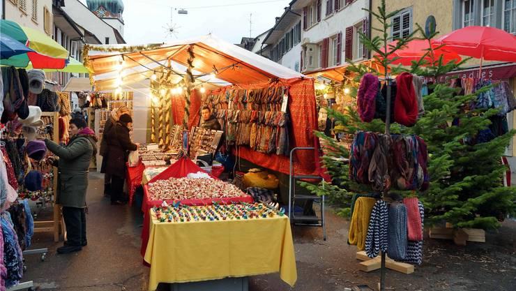 Grossandrang und gute Geschäfte, aber nicht im 2021: Der Weihnachtsmarkt in Bad Zurzach ist abgesagt.