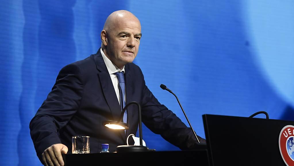 Auch FIFA-Präsident Gianni Infantino gibt sich kämpferisch gegen die Gründervereine der European Super League