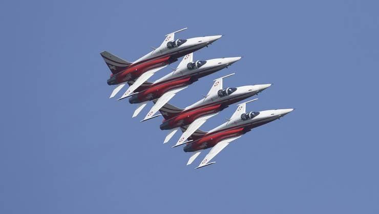 Die Patrouille Suisse ist bekannt für ihre eindrücklichen Flugshows