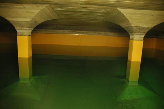 Blick ins Reservoire im Untergrund des City-Hallenbads.