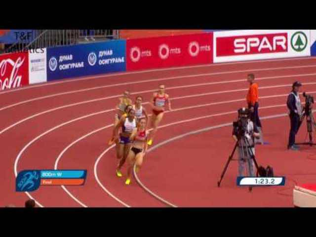 800m Women FINAL - European Athletics Indoor Championships Belgrade 2017