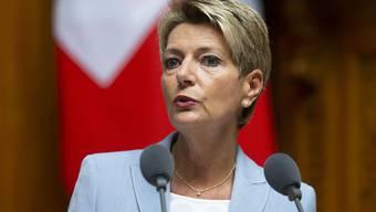 Bundesrätin Karin Keller-Sutter machte den Nationalrat darauf aufmerksam, dass punkto Datenschutz noch einige Differenzen zur EU bestünden.
