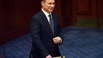 Regierungschef Nikola Gruevski im Parlament