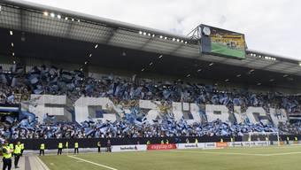 Die Choreographie der Fans des FC Zürich vor dem Cupfinal.