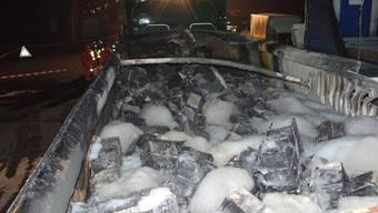 Zofingen: Geladene Batterien in Brand geraten