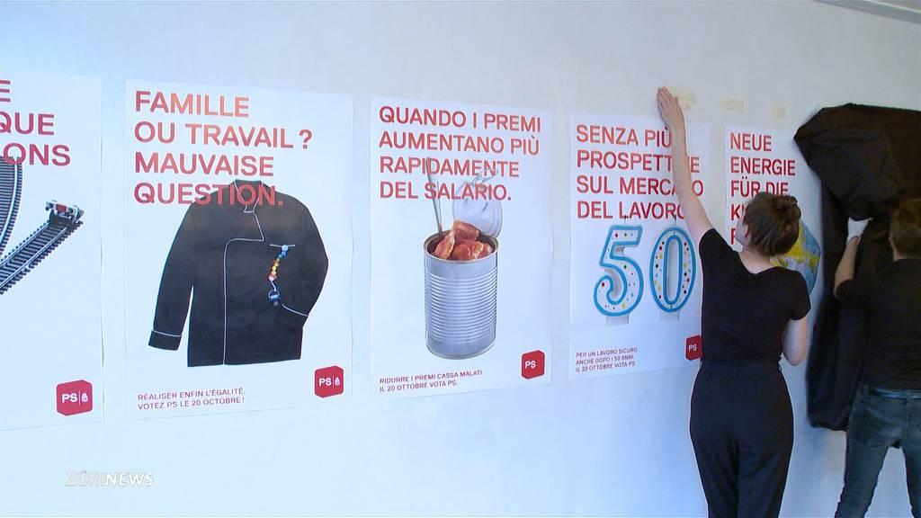 Konkrete Themen statt faules Obst: SP stellt neue Wahlplakate vor