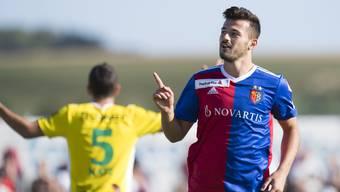 Albian Ajeti brach mit seinem Doppelpack den Bann im Cupspiel.