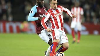 Xherdan Shaqiri schafft mit Stoke City im Abstiegskampf gegen West Ham United den Befreiungsschlag nicht