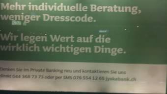 Die Werbung der Jyske Bank