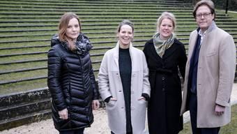 Vier der sechs Initianten von «Salz&Kunst»: Andrea Schäfer, Christine Hock, Corinna Virchow und Mario Kaiser Bild: Kenneth Nars