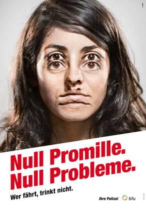 Die Kantonspolizei wirbt für Null Promille.