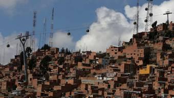 Von La Paz nach El Alto führt eine der bereits existierenden Seilbahn-Linien