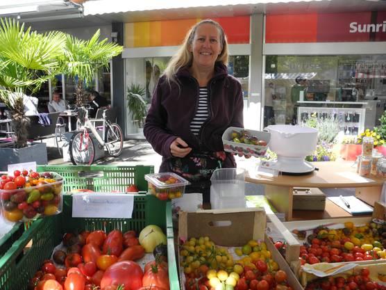 Silvia Schaaf und ihre bunten Tomaten
