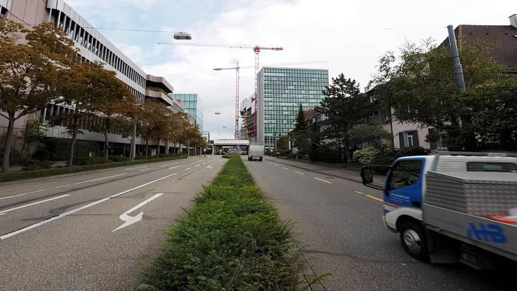 Die Grenzacherstrasse soll schmaler, der Grünstreifen breiter und der Verkehr beruhigt werden.Kenneth Nars
