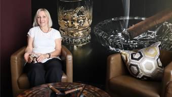 Karoline Ernst in ihrer neuen Lounge im Klingnauer Städtli.