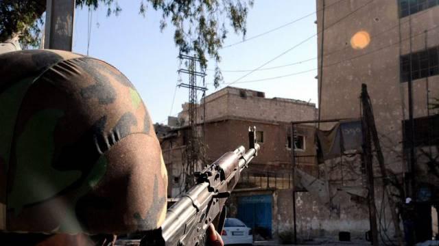 Syrischer Soldat in Damaskus (Archiv)